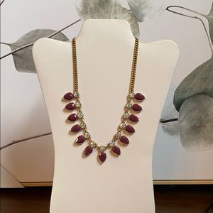 J. Crew: NWT Purple and Faux Diamond Necklace